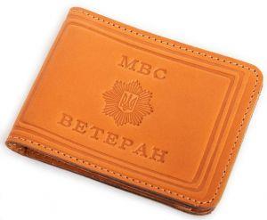 Обложка для удостоверения ветерана МВД арт.5057